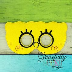 Sponge Felt Mask Embroidery Design - 5x7 Hoop or Larger