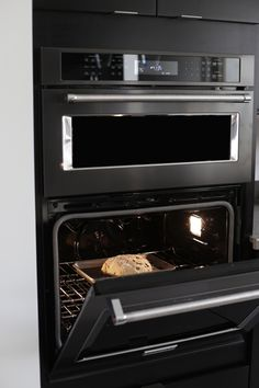 1000 images about black stainless steel on pinterest for Chocolate kitchen cabinets with stainless steel appliances