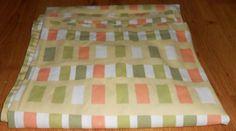 """Casaba hower Curtain 72 x 72"""" Yellow Orange Green White Bath #Casaba"""