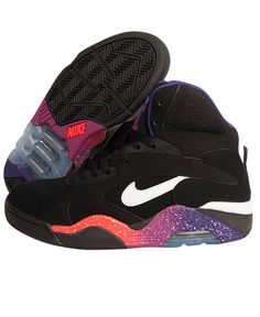 "Nike - Air Force 180 High ""Phoenix Suns"" (Black/White-Court Purple-Rave Pink)"