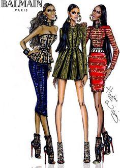 Tribal Trio - Rihanna, Iman and Naomi Campbell