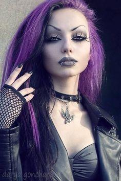 Punk Girls, Gothic Girls, Hot Goth Girls, Goth Beauty, Dark Beauty, Rockabilly Moda, Darya Goncharova, Goth Look, Gothic Fashion