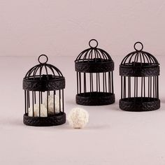 Miniature Classic Round Decorative Birdcages - Bridal Everything