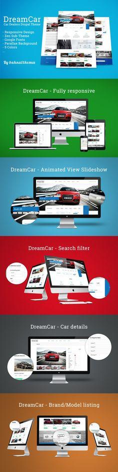DREAM CAR - Premium Car Dealer Theme. Drupal Themes. $54.00