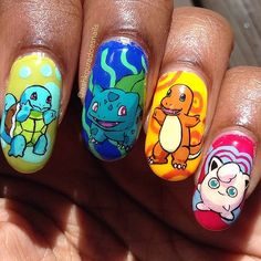 Charizard claws = the ultimate '90s manicure.