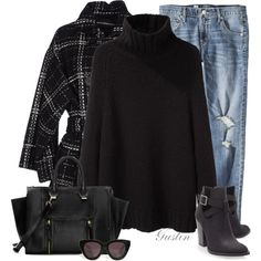 """""""black"""" by stacy-gustin on Polyvore"""