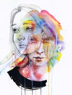 Girls Change Colors by Agnes Cecile | Eyes On Walls
