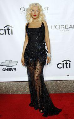 Christina Aguilera's Fashion Evolution Black Dress Outfits, Hot Outfits, 2000s Fashion, Fashion Today, Christina Aguilera, Britney Spears Music Videos, Celebrity Costumes, Evolution Of Fashion, Black Sequin Dress