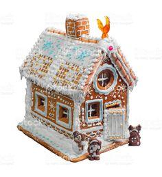 Casa de Natal de pão de mel foto royalty-free