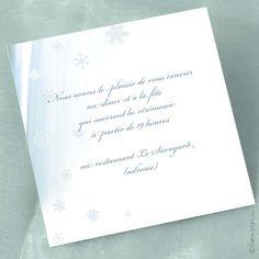 Carte d'invitation Mariage en Hiver www.faire-part.com