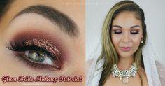 Agape Love Designs: Bridal Makeup   Glitter Glam Tutorial