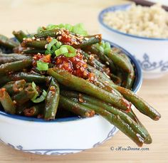 Sautéed Green Beans with Spicy Korean Chili Pepper Sauce
