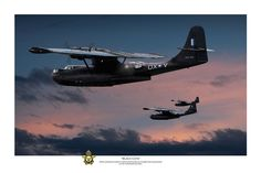 Digital Art - Black Cats - Titled by Mark Donoghue , Amphibious Aircraft, Ww2 Aircraft, Military Aircraft, Flying Boat, Dramatic Eyes, United States Navy, Aviation Art, Cata, Military Art