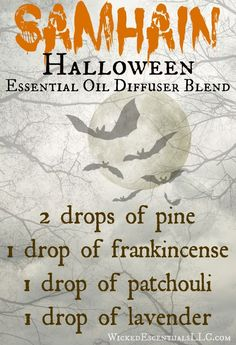 Diffuse this essential oil blend in your home during Samhain (Halloween) in order to aid in the celebration of the season.