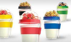 Asobu Yogurt-2-Go Container with Spoon (1- or 2-Pack)