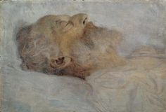 Old man on the deathbed - by Gustav Klimt