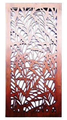 Bamboo Design Laser Cut Metal Art for Garden Wall from Earth Homewares