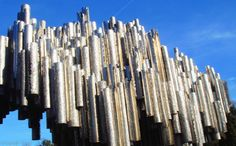 File:Sib yangtsefly.jpg  Sibilius Monument Sibelius Monument, Sibelius Park, [61]. The world-famous composer Jean Sibelius' monument was designed by sculptress Eila Hiltunen and unveiled in 1967. It is one of the most well-known tourist attractions in Helsinki as nearly every guided tourist tour is brought to Sibelius Park to marvel at this unique work of art resembling organ pipes, welded together from 600 pipes and weighing over 24 metric tons.