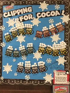 Top clipping class wins a hot cocoa party! Pta School, School Fundraisers, School Events, Box Tops Contest, Box Top Collection Sheets, Cocoa Party, School Displays, Pto Flyers, Fundraising