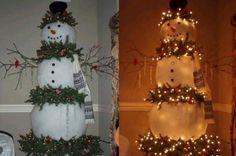 leuke sneeuwpop voor de feestdagen.....is weer eens wat anders.