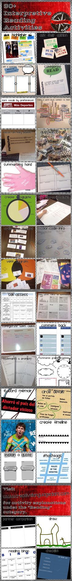 How to have students show their comprehension of a reading and acquire new…