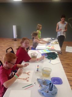 7/26/15.  Monticello's Erin's art camp encompassed the exploration of watercolor and acrylic. We experimented with different techniques and textures...and we had fun doing it! Erin Fife Currie has a passion for art AND fitness!