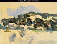 Houses On The Hill - Paul Cezanne - www.paul-cezanne.org