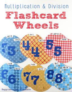 Make these easy multiplication & division math facts flashcard wheels with Ellison Education and Sizzix! Math Division, Multiplication And Division, Emotions Wheel, Singapore Math, Math 2, Fact Families, School Games, Kids Learning Activities, Daycare Ideas