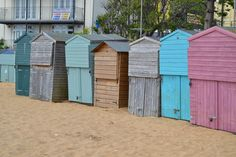 Beach huts in Broadstairs Beach Huts, Shed, Outdoor Structures, Beach Cabana, Cabin, Beach Cottages, Sheds, Tool Storage, Barn