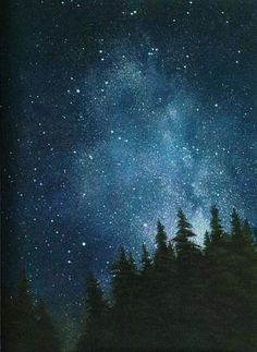 Summer SALE Greg Mort Maine night sky inspired by GregMort, $14.00