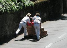 Monte ; Madeira ; Portugal ;  Carreiras (luges)