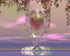 Heart of glass Beautiful Fantasy Art, Beautiful Love, Mystic Girls, Land Of The Living, Photoshop Images, World Of Fantasy, New Thought, Live Wallpapers, New Age