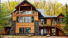 Want to experience the goodness of living in a country-style house and away from the city, and if you love hands-on, log cabin kits is the solution. Log Cabin Kits, Log Cabin Homes, Cabin Plans, House Plans, Log Cabins, Barn Homes, Cabana, Interior Balcony, Log Home Living