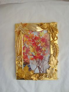 Vintage jewelry embellished frame Falling Leaves by FLBling, $99.99
