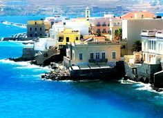 Syros is in the Cyclades group of Greek Islands. Is a beautiful island off the normal tourist track Ermoupolis, the major town of 13,000 people, is the center of government for the Cyclades. The majority of people do not work in the tourist industry. Syros is the place to visit to experience authentic Greek island culture.