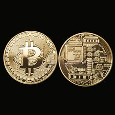 EL 6 X Gold Bitcoin Commemorative Round Collector Coin Bitcoin Gold-plated