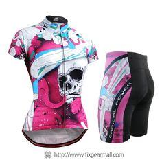 Fixgearmall - #FIXGEAR Women's #Cycling #Jersey & #Pants Set, model no CS-W19P2-SET, #Unique Design and Advanced Performance Fabric. ( #AeroFIX ) #MTB #Roadbike #Bicycle #Downhill #Bike #Extreme #Sportswear