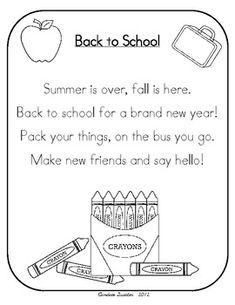 math worksheet : 1000 images about kindergarten poems!! on pinterest  poetry  : First Day Of School Poem Kindergarten