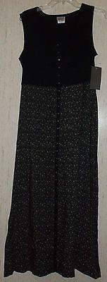 NWT WOMENS FASHION BUG VINTAGE STUDIO BRAND BLACK W/ FLORAL PRINT DRESS SIZE M   eBay
