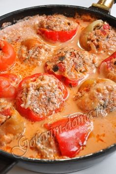 Russian stuffed peppers.