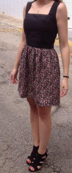 Vestido DIY. Patrón del cuerpo de http://www.daretodiy.com/p/descargas-patrones-y-plantillas-gratis.html?m=1 + cinturilla + falda fruncida. Handmade by @Martexu