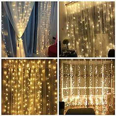 Belt&Road® Copper LED Window Curtain Icicle Lights, 306 LED, 9.8ft x 9.8ft, 8 Modes, String Fairy Light, Warm White, String Light for Christmas/Halloween/Wedding/Party Backdrops: Amazon.ca: Tools & Home Improvement