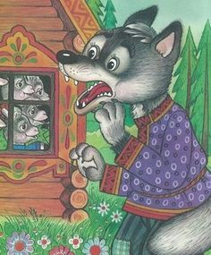 vsk4 Wolf, Stories For Kids, Red Riding Hood, Conte, Story Time, Preschool Activities, Cartoon Characters, Storytelling, Sheep