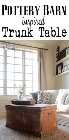 DIY Pottery Barn Inspired Trunk... LOVE this!