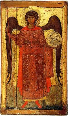 The Archangel Michael, Yaroslavl, late century.The icon supposed to be the temple icon of Archangel Church on the Kotorosl in Yaroslavl, erected by Princess Anna, the wife of Prince Fyodor Rostislavich the Black. Saint Michael, St. Michael, Byzantine Icons, Byzantine Art, Religious Icons, Religious Art, Russian Icons, Angels Among Us, Art Icon