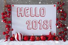Hello 2018 Flowers New Year Wishing Image