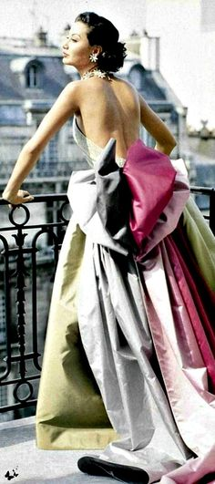 I am not sure it gets any better than this:  Vintage Paris 1950s…you know I love a good ball-gown!!!