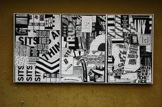 "Thomas Kracauer, Ficciones Typografika 121-123 (24""x36""). Installed on October 31, 2013. A thousand thanks for this contribution. More: http://ficciones-typografika.tumblr.com/"