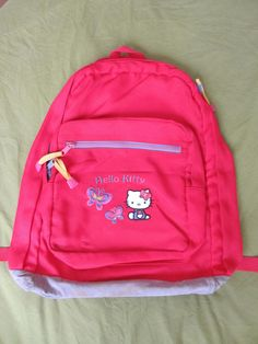 Hello Kitty Sanrio Fuschia Pink Backpack in Clothes, Shoes & Accessories…