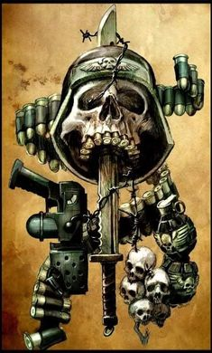 Tattoos Discover Skulls n Skeletons Military Drawings Military Tattoos Tatto Skull Skull Pictures Skull Artwork Skull Wallpaper Warhammer Art Arte Horror Military Art Army Tattoos, Military Tattoos, Arte Horror, Horror Art, Dark Fantasy, Fantasy Art, Military Drawings, Skull Pictures, Warhammer 40k Art